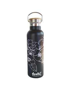 bodhi ORGANIC TEA Eco Stainless Steel Tea Flask Black