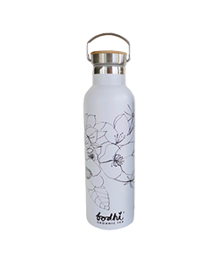 bodhi ORGANIC TEA Eco Stainless Steel Tea Flask White