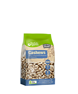 Absolute Organic Raw Cashews 250g