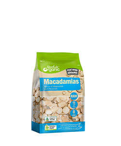Absolute Organic Raw Macadamia 250g