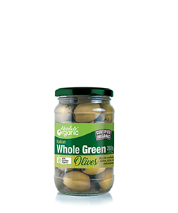 Absolute Organic Whole Green Olives 280g