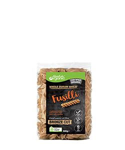 Absolute Organic Whole Durum Wheat Fusilli 500g