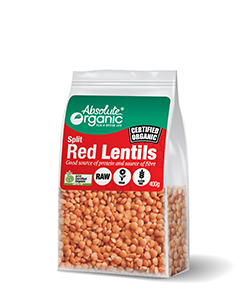 Absolute Organic Split Red Lentils 400g
