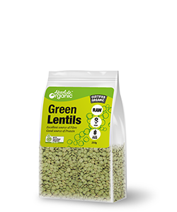 Absolute Organic Green Lentils 400g