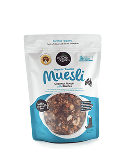 Eclipse Organics Toasted Muesli Coconut Rough with Berries 500g