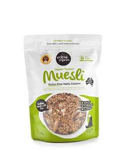 Eclipse Organics Toasted Muesli Gluten Free Nutty Clusters 450g