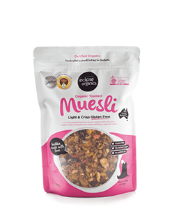 Eclipse Organics Toasted Muesli Light & Crisp Gluten Free 425g