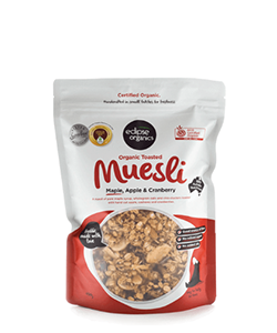 Eclipse Organics Toasted Muesli Maple Apple & Cranberry 500g