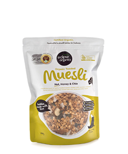 Eclipse Organics Toasted Muesli Nut Honey & Chia 500g