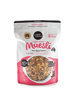 Eclipse Organics Toasted Muesli Verry Berry Crunch 450g