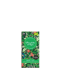 Fairtrade Organic Mint Dark Chocolate 80g Chocolate and Love