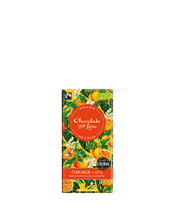 Fairtrade Organic Orange Dark Chocolate 80g Chocolate and Love