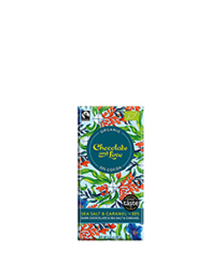 Fairtrade Organic Sea Salt & Caramel Dark Chocolate 80g Chocolate and Love