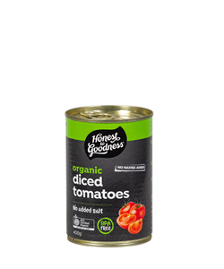 Honest to Goodness Organic Diced Tomatoes 400g