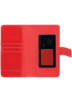 Mobile Safety Vest Anti-Radiation Universal Wallet Case Red