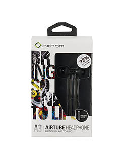 Mobile Safety Aircom Audio Airtube Headset - A3 - Black