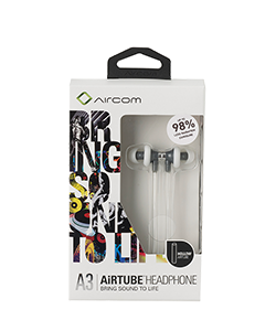 Mobile Safety Aircom Audio Airtube Headset - A3 - White
