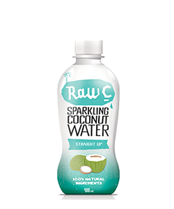 Raw C Sparkling Coconut Water Straight Up 400ml