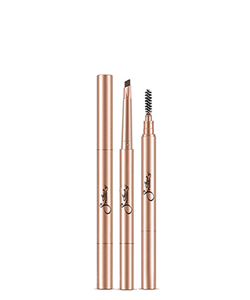 Smitten Cosmetics Retractable Double Ended Brow Pencil Black
