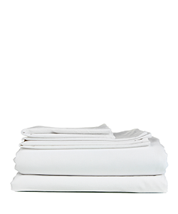 Sunsand Organic White Single Cotton Satin Sheet Set