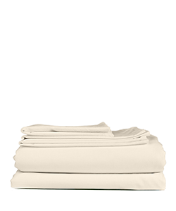 Sunsand Organic Ivory Single Cotton Satin Sheet Set