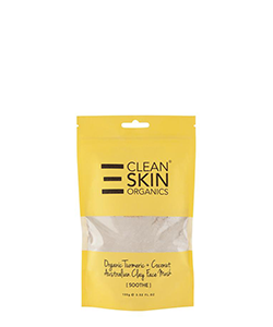 The Clean Skin Organic Turmeric & Coconut Australian Clay Face Mask (SOOTHE)