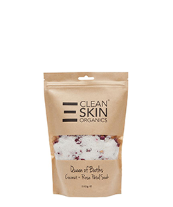 The Clean Skin Queen Baths Coconut Rose Petal Soak