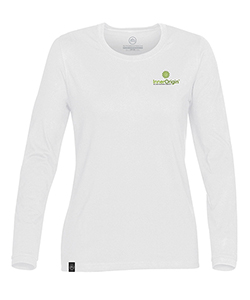 Ladies L/S T-Shirt White Medium