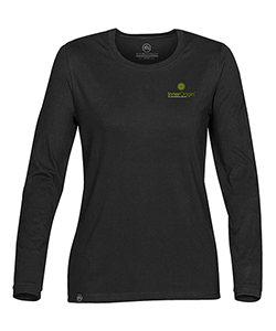 Ladies L/S T-Shirt Black Extra Small