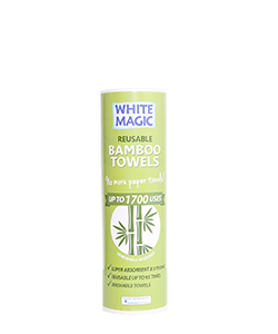 White Magic Reusable Bamboo Towels - Contains 20 sheets 30 x 28 cm