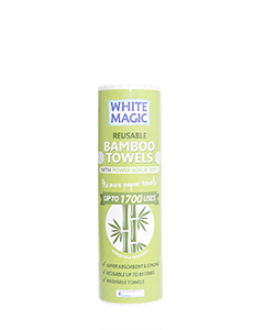 White Magic Reusable Bamboo Towels With Power Dots - Contains 20 sheets 30 x 28 cm