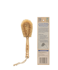 White Magic Coconut Bristle Vegetable Brush 21 cm x 13
