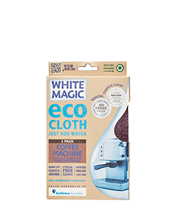 White Magic Eco Cloth Coffee Machine 2 Pack